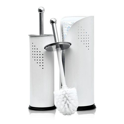 White Toilet Set Roll Holder Combo Geelong Brush