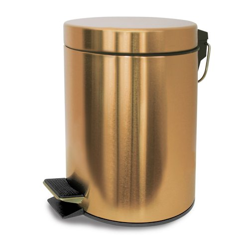 Vivi 3l metallic gold bathroom bin geelong brush